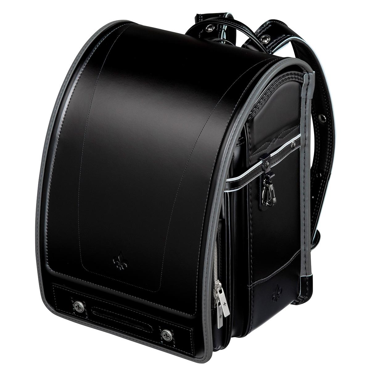 フィットちゃんランドセル グランナイト ブラック 安ピカッタイプ(FIT-231AZ)A4フラットファイル収納サイズ